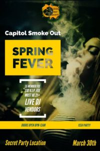 Capitol Smoke Out Spring Fever Hosted by Trichome Honey Concepts (DC) March 20 2018