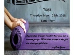 Yoga Hosted by Herbology Dispensary (MD) March 29 2018