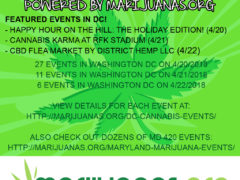 420 Events Weekend Calendar for the DMV