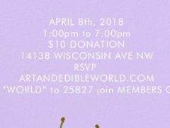 ART & EDIBLE WORLD SUNDAY FUNDAY (DC) April 8 2018