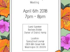 CCC First Friday Meeting April 2018 Hosted by Cannabis Consumers Coalition (DC) April 6 2018