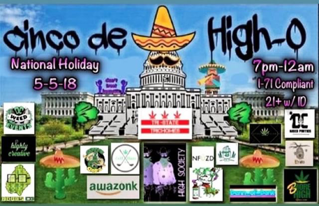 golfnblazeYo yo yo it's almost that time. Looking for something to do this Saturday? Pop in for Cinco de High-O. Hit my DM for details! #cannagolfdc #foretwentydc #dcweedevents #dccannabisevents #dmvcannabisevents #dmvcannabiscommunity #dccannabiscommunity #dcnightlife #cincodehigho #cincodemayo