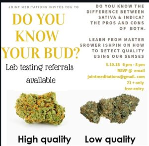 Do You Know Your Bud? hosted by Joint Meditations (DC) May 10 2018