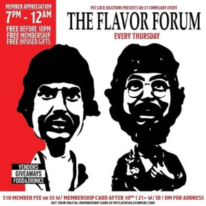 Flavor Forum Thursdays hosted by Pot Luck Solutions, LLC (DC) May 10 2018