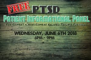 PTSD Patient Informational Panel Hosted by Arya Wellness Center (MD) June 6 2018