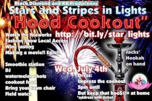 Stars and Stripes in Lights Hood Cookout (DC) July 4 2018