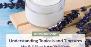 UNDERSTANDING TOPICALS & TINCTURES (DC) May 20 2018