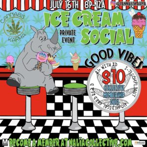 2nd Good Vibes Ice Cream Social Hosted by Cannabis Karma (DC) July 16 2018
