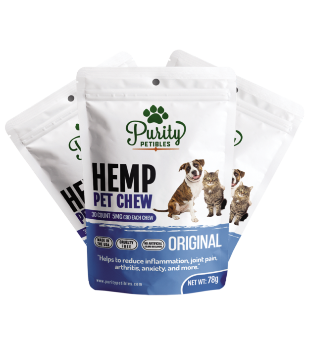 Purity Petibles HEMP PET TREATS 150MG 3 PCS