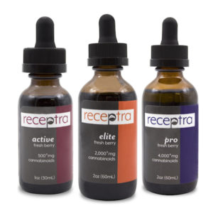 Receptra Naturals Active Lifestyle Hemp CBD Oils