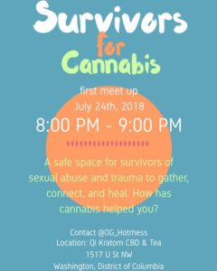 Survivors For Cannabis Meet Up (DC) July 24 2018
