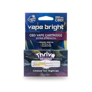 VAPE BRIGHT - THRIVE BEYOND CBD VAPE CARTRIDGE – 250MG
