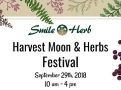 Harvest Moon & Herbs Festival Hosted by Smile Herb Shop (MD) September 29 2018
