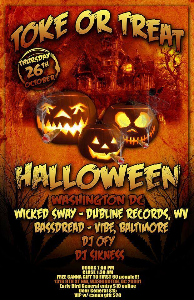 Toke or Treat 2 Halloween SmokeOut by Trichome Honey Concepts (DC) October 27 2018