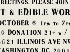 ART & EDIBLE WORLD by Art & Edible World (DC) October 6 2018