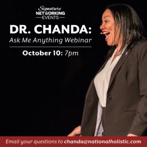 ASK ME ANYTHING WITH DR. CHANDA (Online) October 10 2018