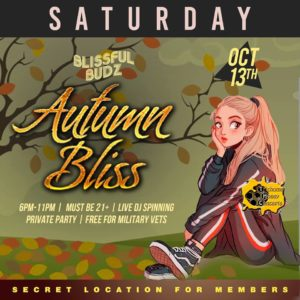 Blissful Budz Autumn Bliss Hosted by Trichome Honey Concepts (DC) October 13 2018