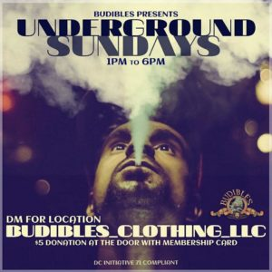 Budibles presents Underground Sunday's (DC) October 7 2018
