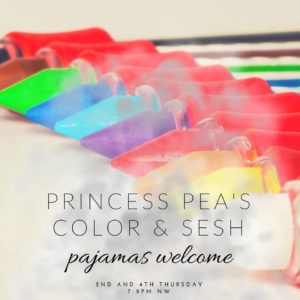 Princess Pea's Color 'N Sesh: Movie Night! (DC) October 11 2018