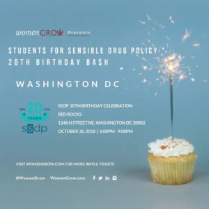 Students for Sensible Drug Policy Celebration by Women Grow (DC) October 30 2018