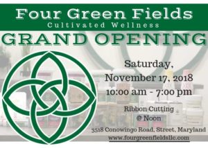Four Green Fields Grand Opening (MD) November 17 2018