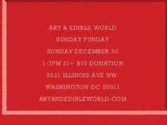 ART & EDIBLE WORLD SUNDAY FUNDAY (DC) December 30 2018