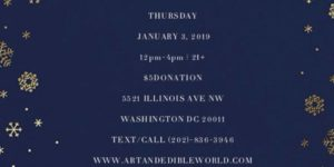 ART & EDIBLE WORLD THURSDAY (DC) January 3 2019