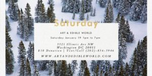 ART & EDIBLE WORLD SATURDAY (DC) January 19 2019