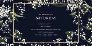 ART & EDIBLE WORLD SATURDAY (DC) January 5 2019
