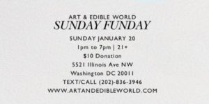 ART & EDIBLE WORLD SUNDAY (DC) January 20 2019