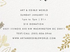ART & EDIBLE WORLD SUNDAY FUNDAY (DC) January 13 2019