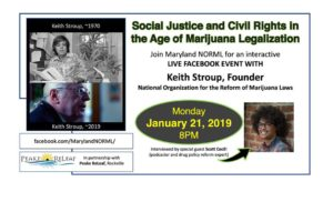 MLK Day Cannabis Legalization Livestream by Maryland NORML (Online) January 21 2019