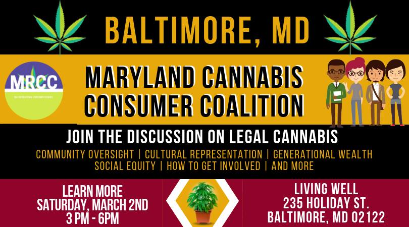 Legal Cannabis In Our Community Hosted by We BAKED (MD) March 2 2019
