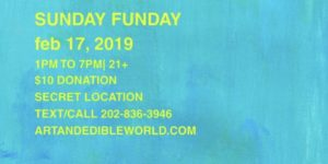 Sunday Sunday Hosted by Art and Edible World (DC) February 17 2019