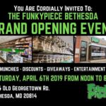 FunkyPiece Bethesda Grand Opening Event (MD) April 6 2019