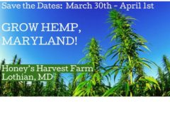 Grow Hemp, Maryland! Hosted by Honey's Harvest Farm and Maryland Hemp Farmers (MD) March 30 2019