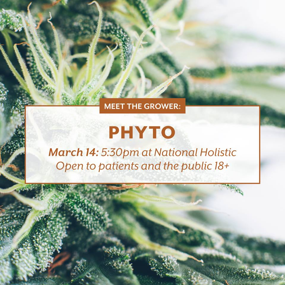 National Holistic Healing Center Meet The Grower Phyto (DC) March 14 2019