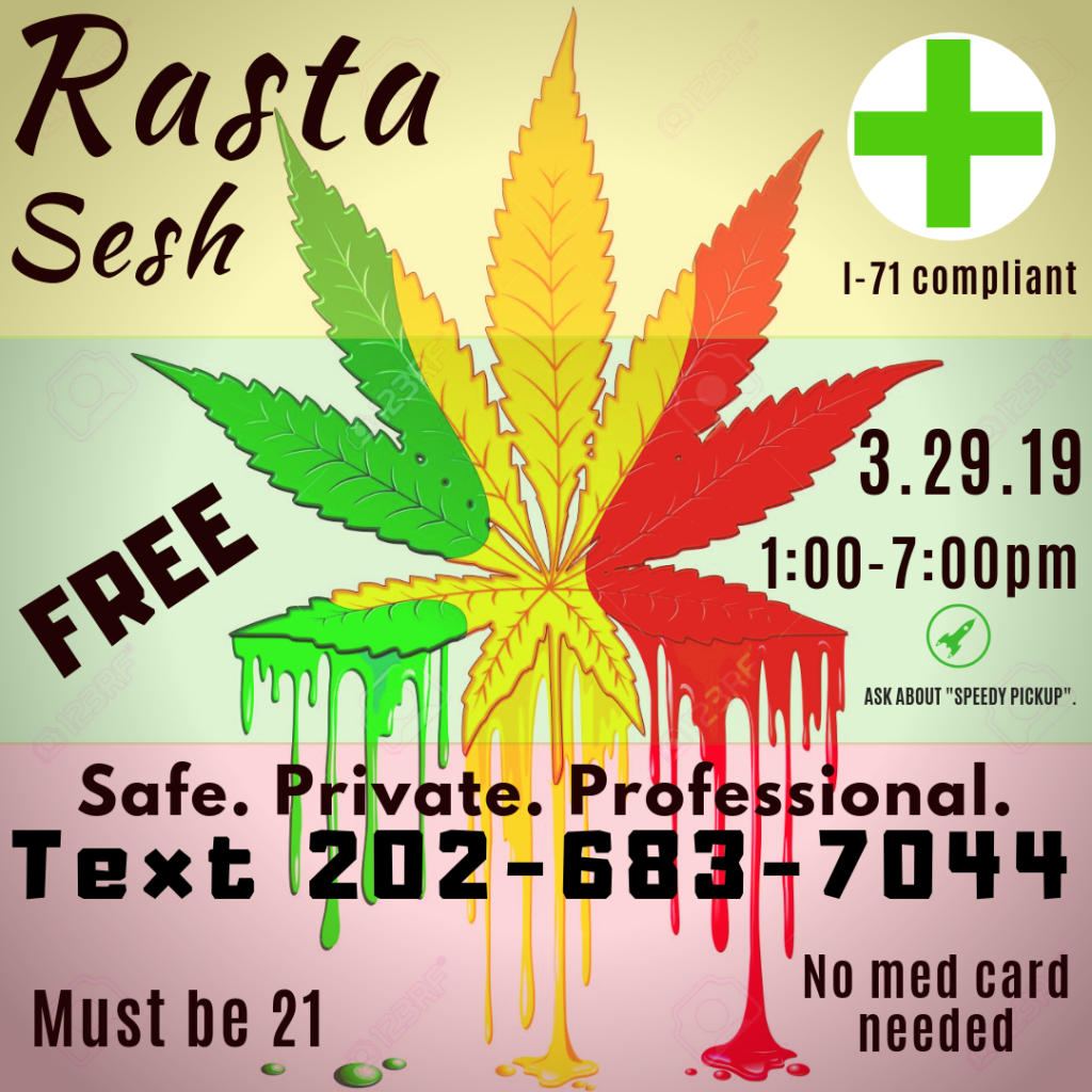 Rasta Sesh hosted by Washington Gasss Company (DC) March 29 2019