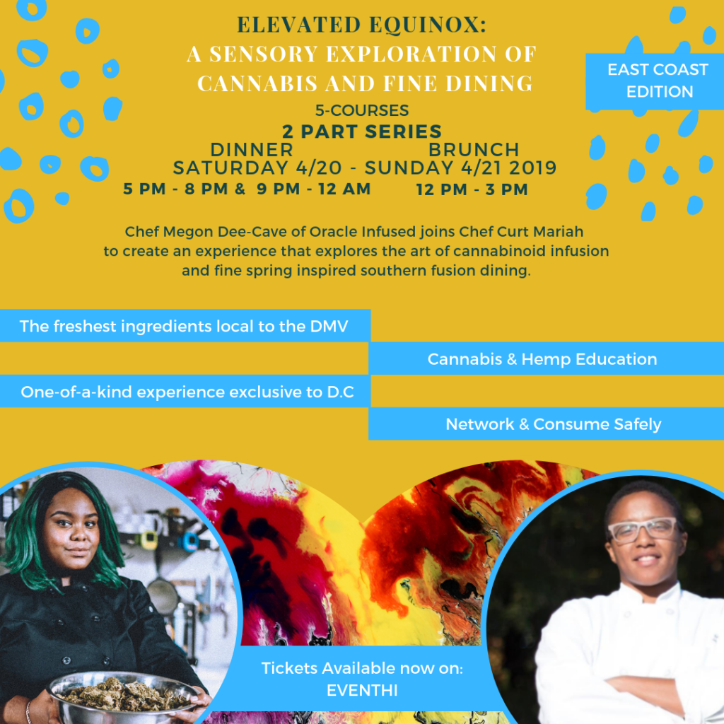 ELEVATED EQUINOX A Sensory Exploration of Cannabis and Fine Dining (DC) April 20 2019