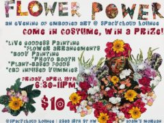 Flower Power An Evening of Embodied Art (at) sPACYcLOUd Lounge (DC) April 19 2019
