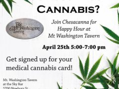 Happy Hour at Mt. Washington Tavern with Chesacanna! (MD) April 25 2019