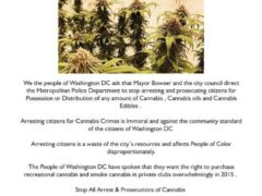 Stop Cannabis Arrest & Prosecution in Washington DC Petition