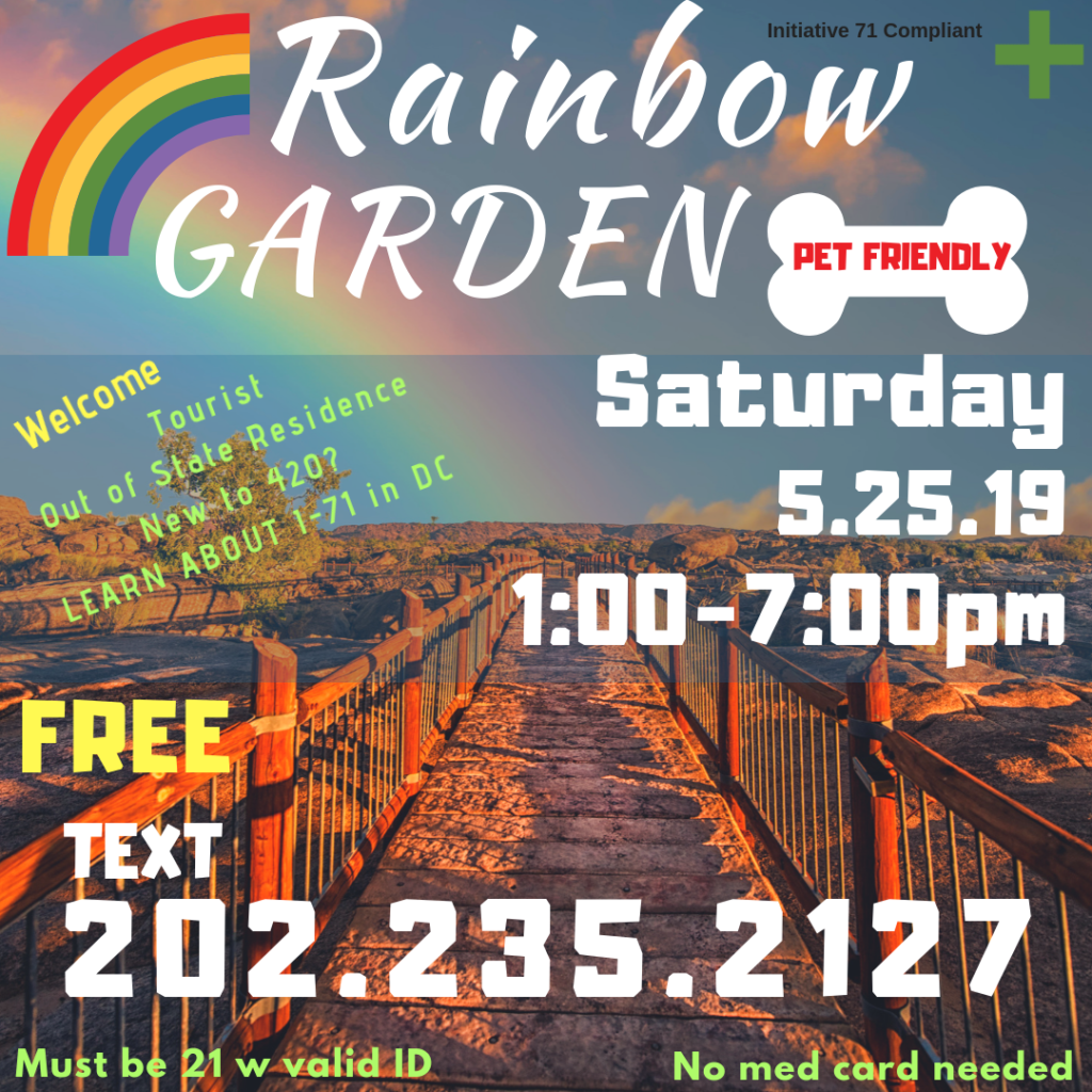 Rainbow Garden Sesh (DC) May 25 2019