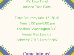 TACOS and TURN UPS (DC) June 15 2019