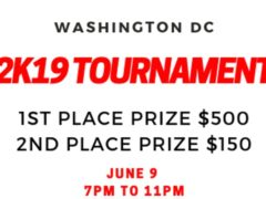 2K19 TOURNAMENT by Art & Edible World (DC) June 9 2019