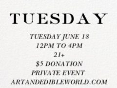 ART & EDIBLE WORLD TUESDAY (DC) June 18 2019