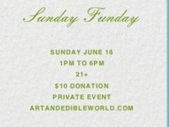 Art & Edible World Sunday Funday (DC) June 16 2019