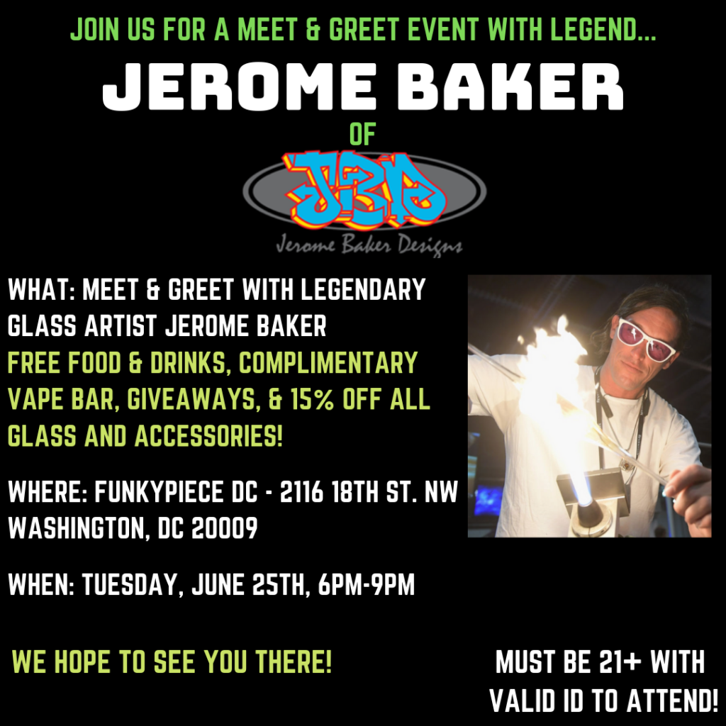 Meet & Greet With Jerome Baker at FunkyPiece DC (DC) June 25 2019