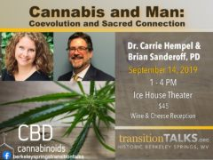 Cannabis and Man - Coevolution and Sacred Connection (WV) September 14 2019