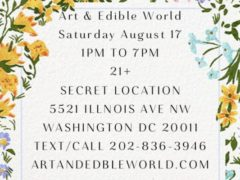 Art & Edible World Saturday (DC) August 17 2019